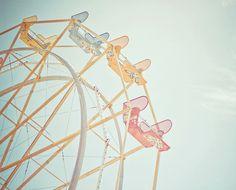 ferris wheels in the summertime.  (I'm afraid of heights.)