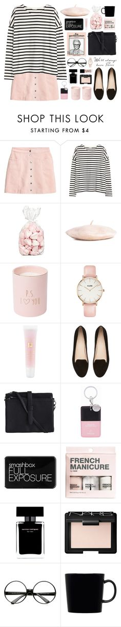 """Je T'aime"" by tania-maria on Polyvore featuring H&M, CLUSE, Lancôme, Witchery, Pieces, Iphoria, Smashbox, Narciso Rodriguez, NARS Cosmetics and ZeroUV"