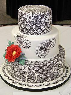 Paisley zentangle cake