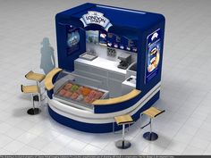 London dairy ice cream kiosk by Aniket Pawar, via Behance