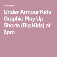 Under Armour Kids Graphic Play Up Shorts (Big Kids) at 6pm