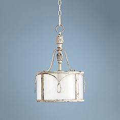 "Quorum Salento 11 1/2"" Wide Persian White Pendant Light"