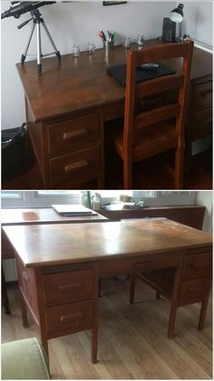 Upcycled wooden desk
