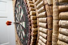Wine cork dart board. Um, Lauren Dear. We can do this in, like, a month. Tops.