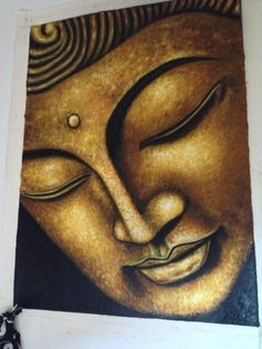 Buddha painting - would love this for above my fire place Buddha Zen, Buddha Buddhism, Buddhist Art, Pintura Zen, Budha Painting, Buddha Tattoos, Zen Meditation, Zen Art, Ganesha