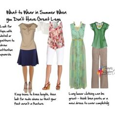 what to wear when you don't have great legs