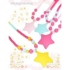 (lah) Star candy necklace featuring polyvore women's fashion jewelry necklaces star jewelry star necklace