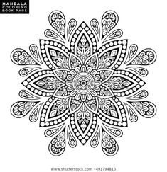 Find Flower Mandala Vintage Decorative Elements Oriental stock images in HD and millions of other royalty-free stock photos, illustrations and vectors in the Shutterstock collection. Thousands of new, high-quality pictures added every day. Mandala Doodle, Mandala Dos, Mandala Tattoo, Art Doodle, Tattoo Painting, Tatoo Art, Dot Painting, Mandalas Painting, Mandalas Drawing