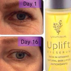 Maximize moisture. Minimize the appearance of fine lines and wrinkles. Wake up those eyes with nutrition for your skin. #Younique #Uflift #Eye #Serum #Beauty