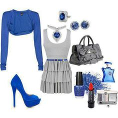 Fablous Girls World: More Stylish Eve Photo Gallery Classy Outfits, Stylish Outfits, Beautiful Outfits, Cute Outfits, Stylish Eve, Royal Blue Outfits, Types Of Clothing Styles, Business Dresses, Girl Fashion