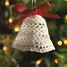Crochet Holiday Bell Christmas Ornament Pattern by BeadedBundles, $1.95