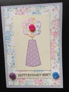 Flower Vase Birthday Card :)