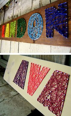string art kid names. You can also use this idea for items like a ship, building, geometric shapes,etc. The possibilities are endless.