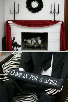 Come in for a spell, love it!! Cool Halloween Party Decor Ideas via Paging Super Mom