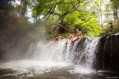 Soak in the natural hot springs at Kerosene Creek, Rotorua