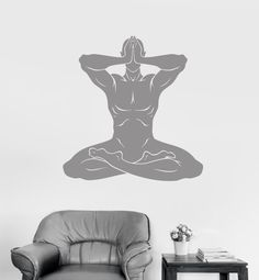 Wall Vinyl Decal Yoga Om Meditation Zen Buddhism by BoldArtsy