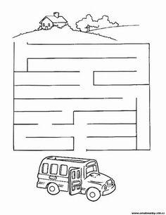 Labyrinty a bludiště k vytisknutí - č. 1 - 25 Mazes For Kids, Disney, School, Puzzles, Game, Book, Childhood Games, Maze Game, Coloring Pages