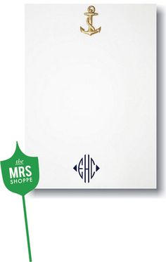 anchor monogrammed stationary