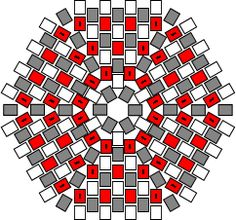 * Hexagonal Flat Peyote Worked in Rounds