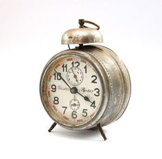 Vintage mechanical Alarm Clock Gustav Becker NON by mmvintagestore, $60.00