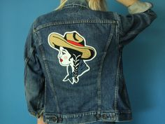 Cowgirl Chainstitched Embroidered 70s Levis Denim by DiveVintage
