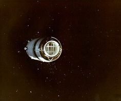 Apollo 8 S-IVB third stage after undocking (this stage, along with S-IVB stages from Apollo 10 and 11 remain in solar orbit today)  http://www.hq.nasa.gov/office/pao/History/alsj/a410/AS8-16-2583.jpg