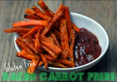 Gluten Free Baked Carrot Fries