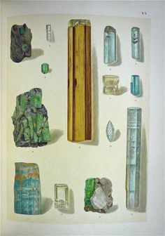 Plate from The Mineral Kingdom. Illustration by Brauns, Reinhard Anton (1912).  From minerology.eu.