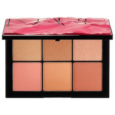 Shop NARS's Overlust Cheek Palette at Sephora. This limited-edition cheek palette features three blushes and three innovative gel-to-powder highlighters. Nars Blush Palette, Eye Palette, Eyeshadow Palette, Eyeshadow Base, Makeup Goals, Skin Makeup, Nars Cosmetics, Sephora, Beauty Products