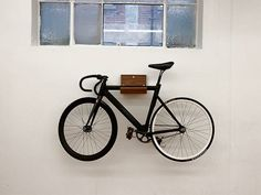 Shelfie Bike Rack Also Holds Your Helmet Shelfie Bicycling And