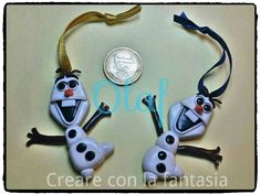 Olaf in fimo... fatto a mano