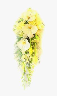 Media Cascadas en Amarillos y Blancos con Tulipanes Holandeses, Orquideas Phalenopsis, rosas y Mini rosas.