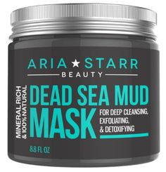 Aria Starr Dead Sea Mud Mask For Face, Acne, Oily Skin & Blackheads - Best Facial Pore Minimizer, Reducer & Pores Cleanser Treatment - Natural For Younger Looking Skin - Makeup - Roz - Care - Skin care , beauty ideas and skin care tips Face Mask For Blackheads, Acne Face Mask, Best Face Mask, Best Masks, Ave Tattoo, Aries, Brand Review, Blackhead Mask, Blackhead Remover