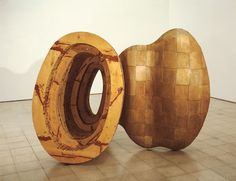 Richard Deacon, Kiss and Tell, 1989, Resin, wood and steel. Arts Council Collection, Southbank Centre, London.