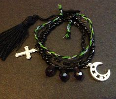 My Moon Cross bracelet, handmade by me :) Check it out on Etsy at MadeinPerth!