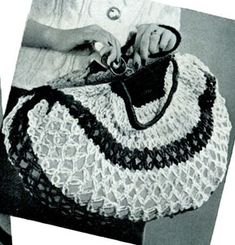 Shopping Bag - free vintage crochet pattern from Star Variety Show, Book No. 21.