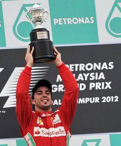GP Malasia: Fernando Alonso, el vencedor del GP de Malasia 2012. Líder del Mundial.