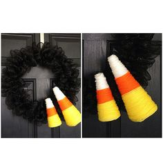 Candy Corn Halloween Wreath