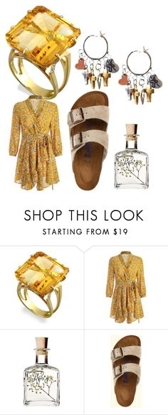 """""""yellow android experiment"""" by trishoui ❤ liked on Polyvore featuring Birkenstock"""