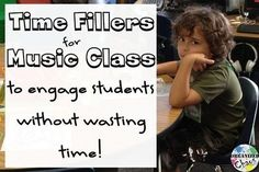 Teacher Tuesday: time fillers for elementary music Organized Chaos: Teacher Tuesday: time fillers for elementary music. Fill those extra 5 minutes with something engaging and musical instead of something meaningless and boring. Keep these ideas on hand so Elementary Music Lessons, Music Lessons For Kids, Music Lesson Plans, Music For Kids, Piano Lessons, Elementary Schools, Preschool Music, Music Activities, Teaching Music