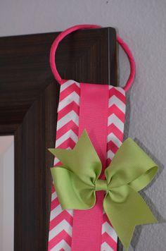 Hair Bow Holder Organizer - Pink