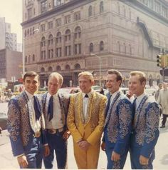 Buck Owens and The Buckaroos!  Check out those Nudie Suits!