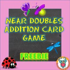 Addition 'Near Doubles' Snap Card Game! This card game gives students an opportunity to practice their mental addition skills. This game can be used after discussing the near doubles strategy, as an early finisher maths activity, part of math centers, or Doubles Addition, Math Doubles, Doubles Facts, Math Addition, Mental Math Strategies, Math Resources, Math Activities, Math Stations, Math Centers