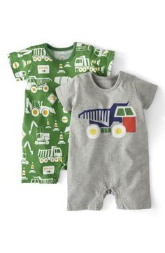 Mini Boden Cotton Romper (2-Pack) (Baby Boys) available at #Nordstrom