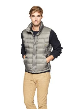 Puffer vest Pin your wishlist here: gap.us/PinToWin Men's Coats And Jackets, Winter Jackets, Leather Men, Leather Jackets, Puffer Vest, Gap, Bomber Jacket, Mens Fashion, My Style