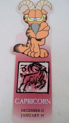 Garfield Horoscope Bookmark Capricorn Dec 22 Jan 19 Astrology Sign Goat Zodiac #antioch