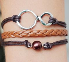 Infinity wish bracelet, infinity, bracelet, braid leather bracelet, bead bracelet, best friendship bracelet, personalized bracelet