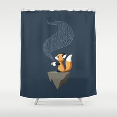 Fox Tea Shower Curtain