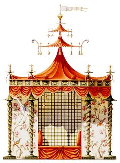 An unrealized project for a garden pavilion at Trianon designed for Marie-Antoinette.  This light-hearted, theatrical pastiche is from Architectural Watercolors by Andrew Zega & Bernd H. Dams (Paris, France)