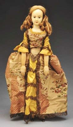 unusual early carved ivory doll